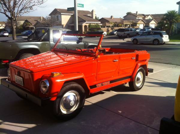 1974 Vw Thing Manual For Sale In San Diego California 15k